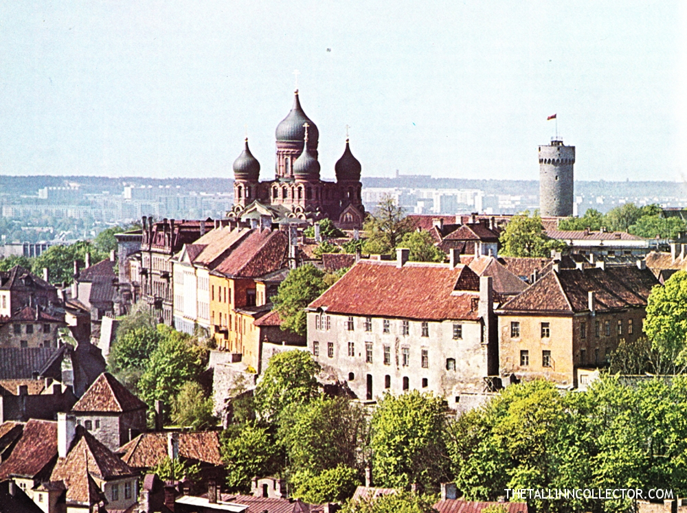 The silhouette of Tallinn is dominated by tall Toompea (Dome Hill)